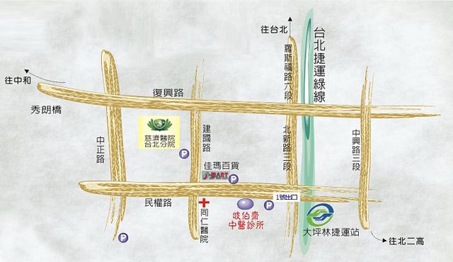 岐伯齋中醫診所位置圖
